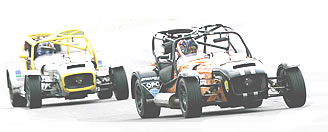 two Caterham cars